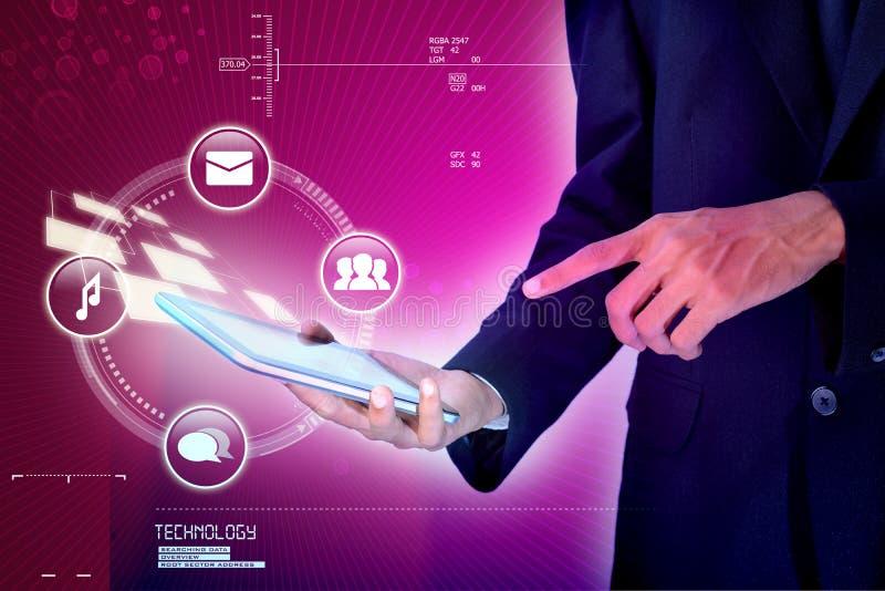 Hand, die intelligentes Mobiltelefon hält lizenzfreie stockbilder