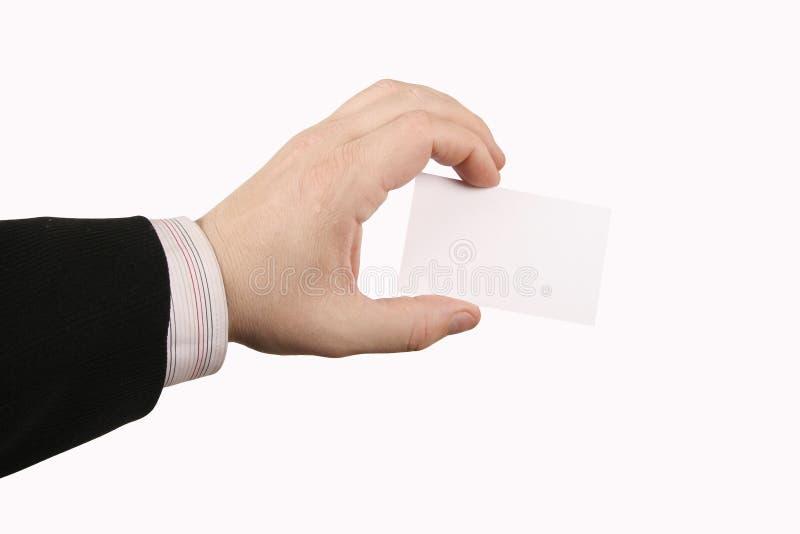 Hand, die Karte hält lizenzfreies stockfoto