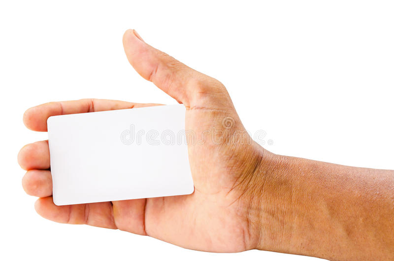 Hand die lege kaart houdt stock afbeelding