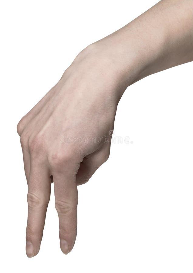 Hand, die mit den Fingern geht lizenzfreies stockbild