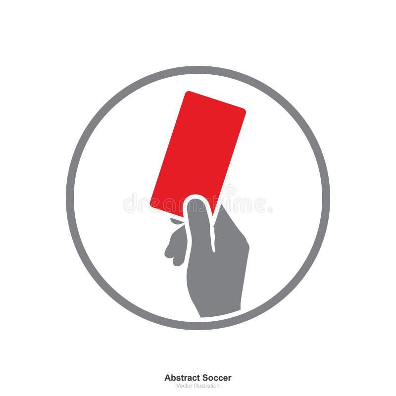 Hand die rood kaartpictogram op een witte achtergrond tonen royalty-vrije illustratie