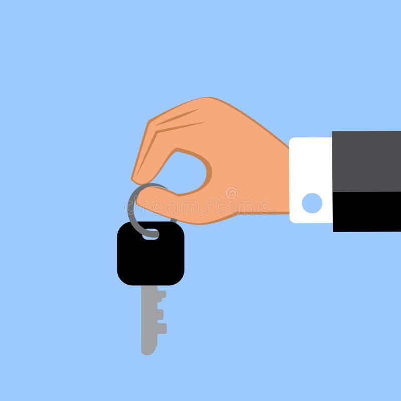 Hand die sleutels geeft Vector illustratie vector illustratie