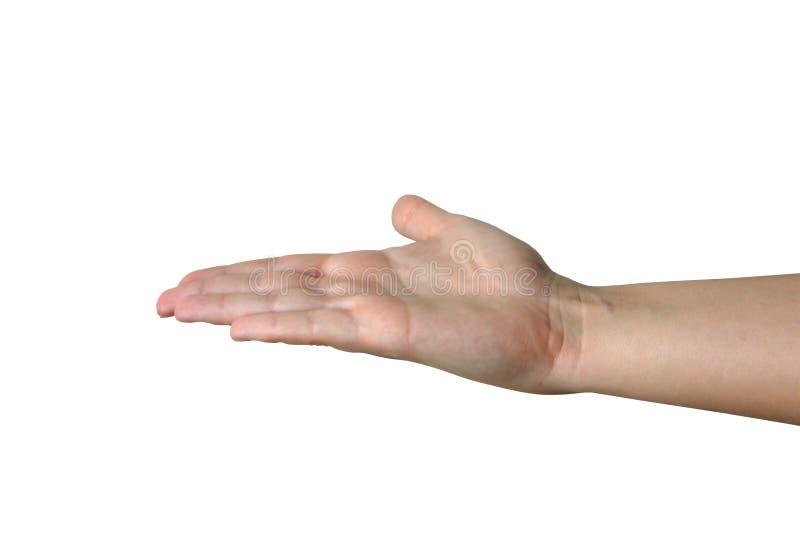 Hand, die unsichtbare Nachricht #2 anhält stockbilder