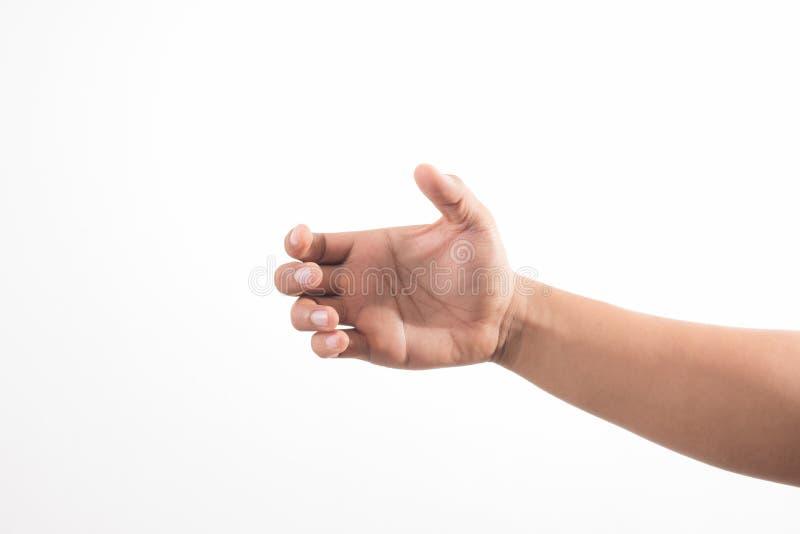 Hand, die unsichtbares Einzelteil h?lt Zeichenkonzept lizenzfreies stockbild