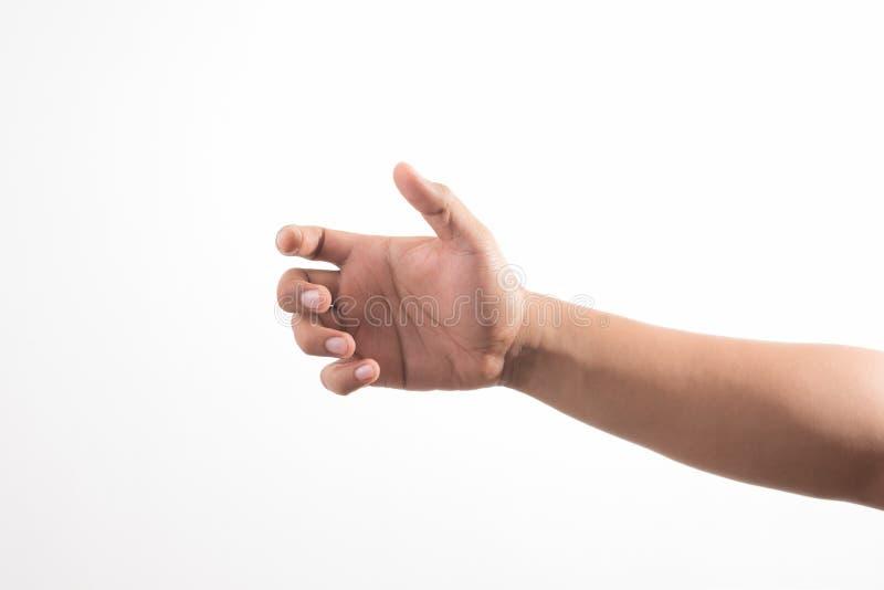 Hand, die unsichtbares Einzelteil h?lt Zeichenkonzept lizenzfreie stockbilder