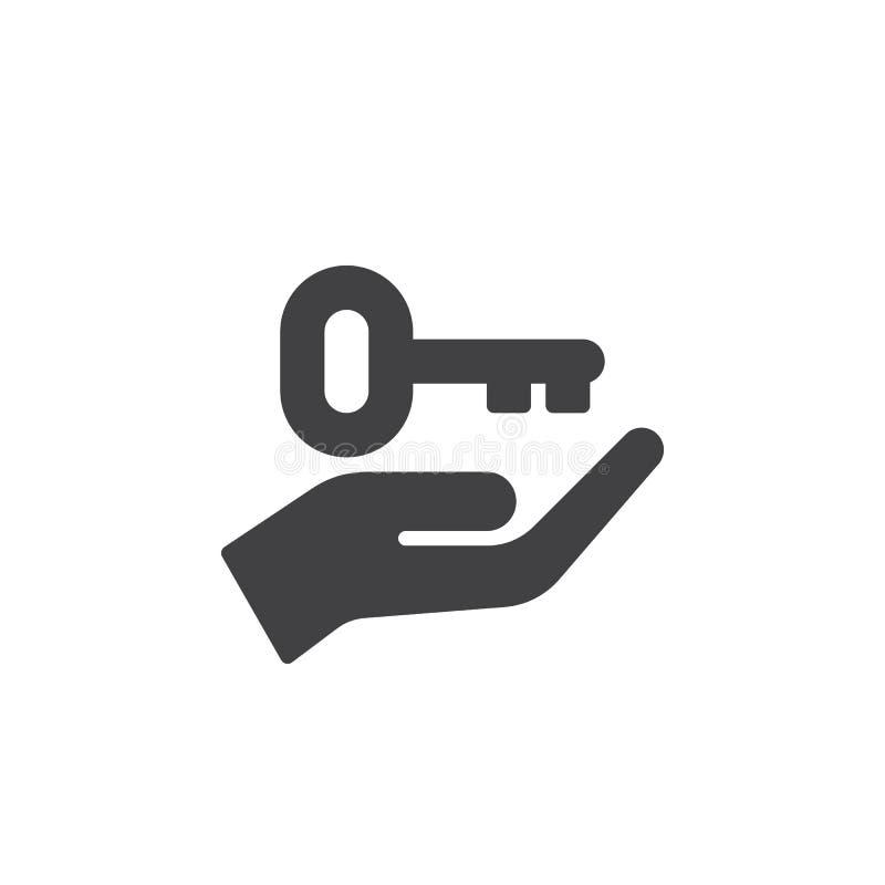 Hand die zeer belangrijk pictogram vector, gevuld vlak teken, stevig die pictogram steunen op wit wordt geïsoleerd vector illustratie