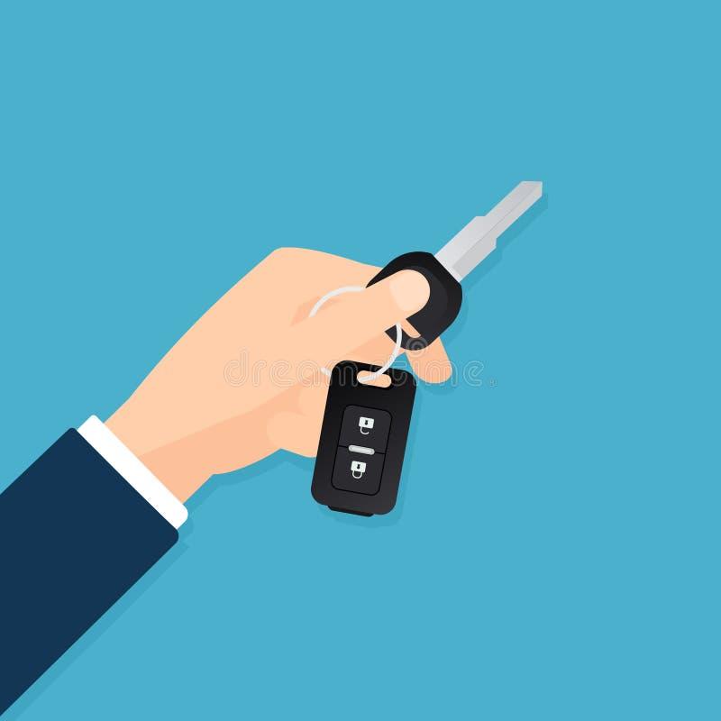Hand die zeer belangrijke auto houden vector illustratie