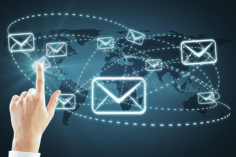 E-mail marketing and newsletter concept royalty free illustration
