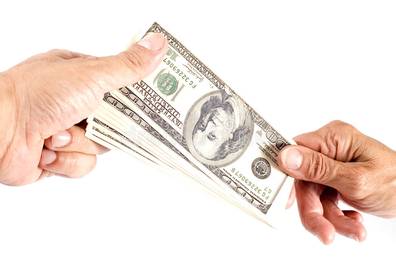 Hand with dollar stock photo