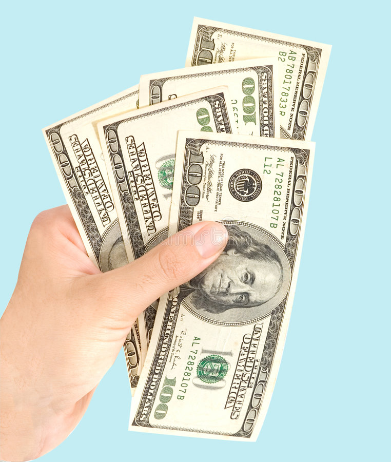 Hand With Dollars Stock Image