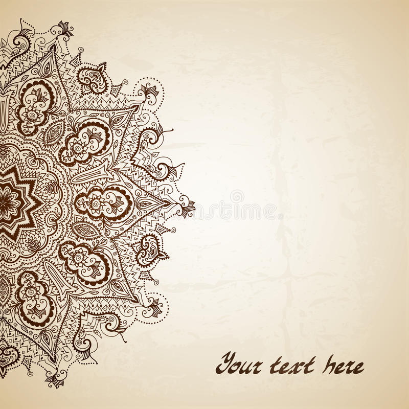 Hand dragen abstrakt bakgrund Hand dragit abstrakt begrepp stock illustrationer