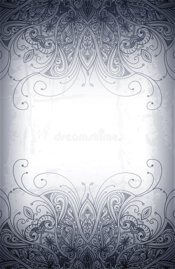 Hand dragen abstrakt bakgrund Hand dragit abstrakt begrepp royaltyfri illustrationer