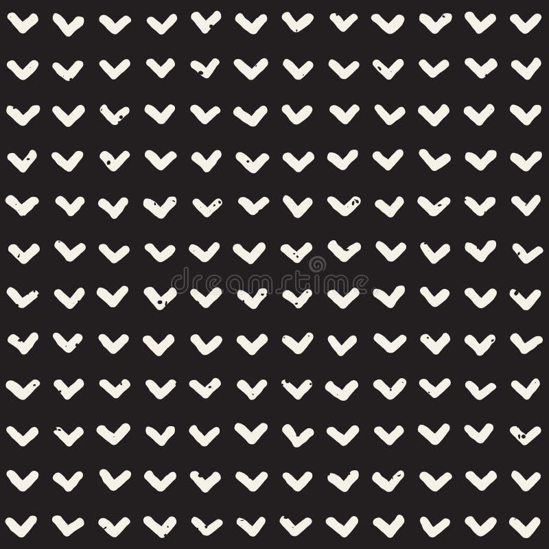 Hand dragen etnisk sömlös modell för stil Abstrakt geometrisk belägga med tegel bakgrund i svartvitt Vektor freehand vektor illustrationer
