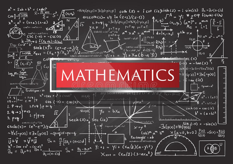 Hand dragen matematik royaltyfri illustrationer