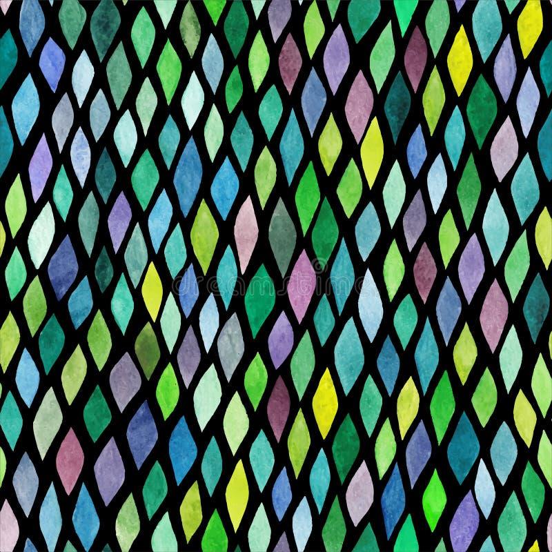 Hand-dragen modell för vattenfärg sömlöst abstrakt begrepp, ändlöst modernt vektor illustrationer
