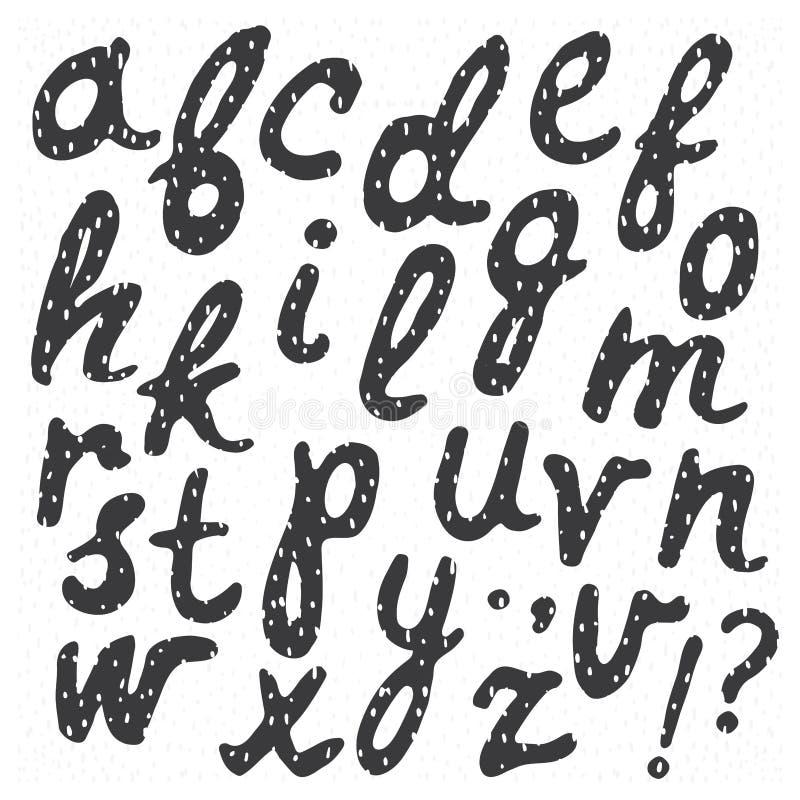 Hand dragen moderiktig calligraphic stilsort stock illustrationer