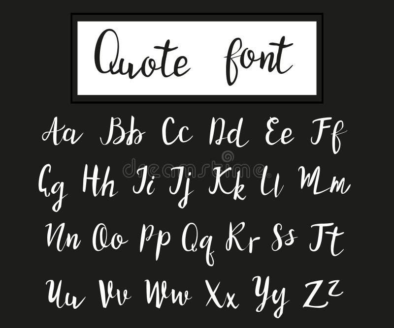 Hand dragen modern skrift, citationsteckenstilsort vektor illustrationer