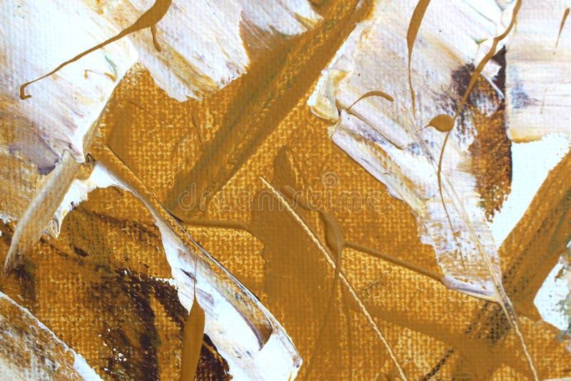 Hand dragen olje- målning abstrakt konstbakgrund Oljemålning på kanfas Färgtextur Fragment av konstverk Fläckar av målarfärg Brus royaltyfri foto