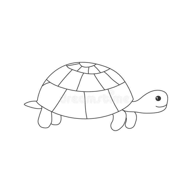 Hand dragen sköldpadda stock illustrationer