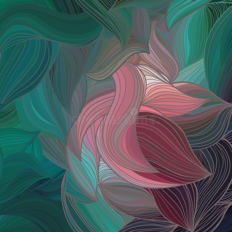 Hand-dragen vågmodell för vektor abstrakt begrepp arkivbild