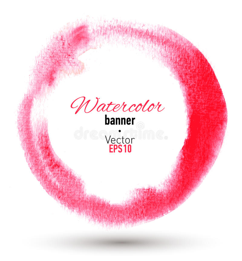 Download Hand Dragen Vattenfärgram. Vektorillustration. Vektor Illustrationer - Illustration av isolerat, grunge: 37344478