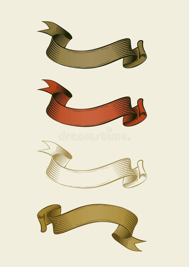 Hand dragit band royaltyfri illustrationer