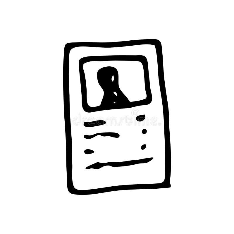 Hand dragit dokumentklotter Skissa stilsymbolen Garneringelemen vektor illustrationer