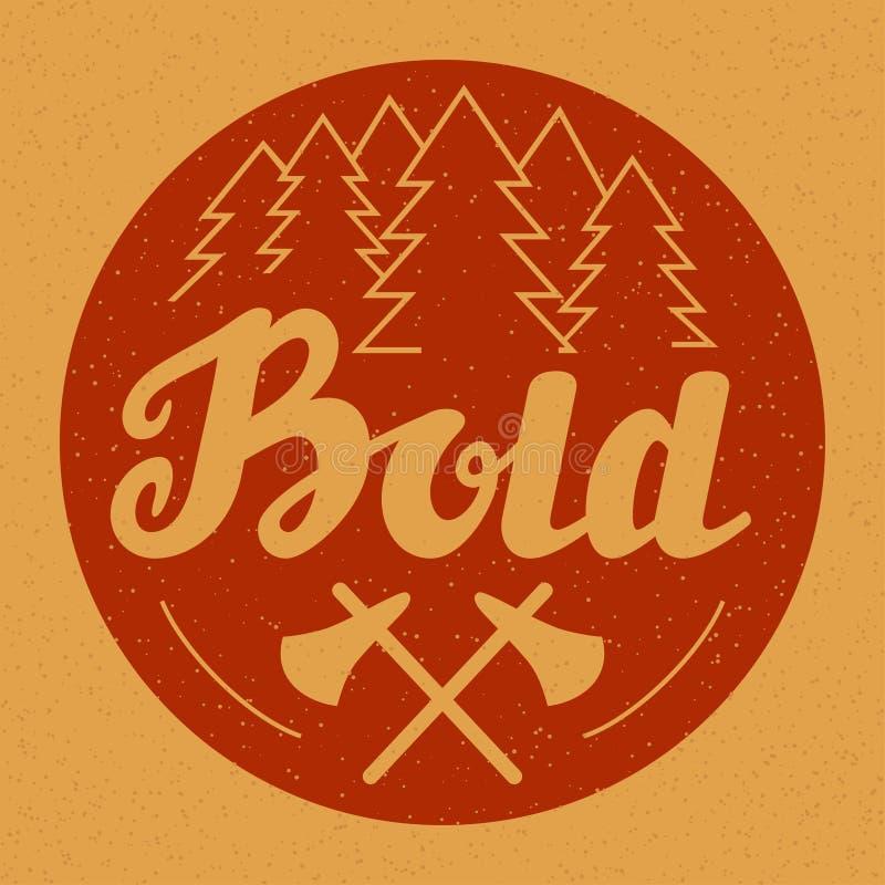 Hand dragit emblem, etikett, baner, logo fetare vektor illustrationer