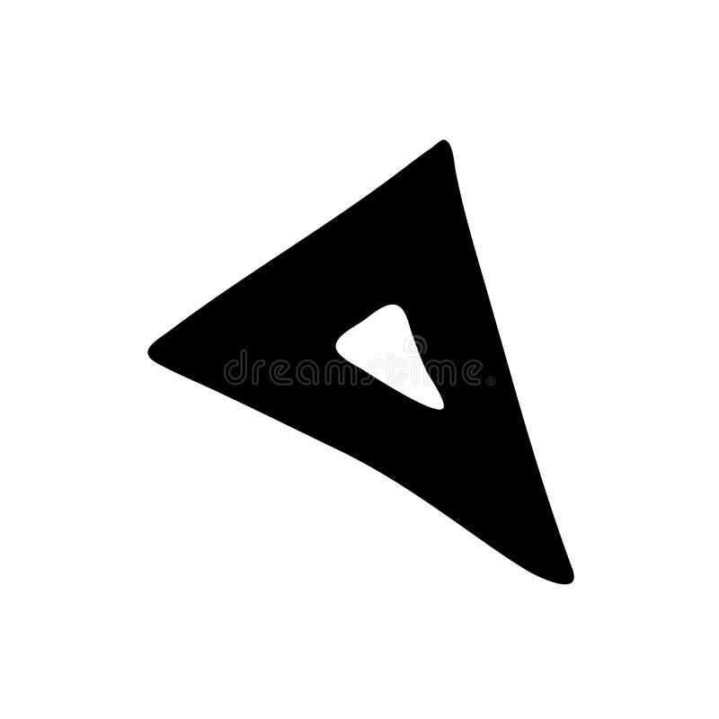 Hand dragit linjaltriangelklotter Skissa stilsymbolen Taget i Genua, Italien bakgrund isolerad white Plan design vektor vektor illustrationer