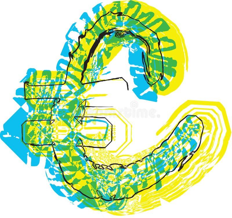 Hand dragit symbol stock illustrationer