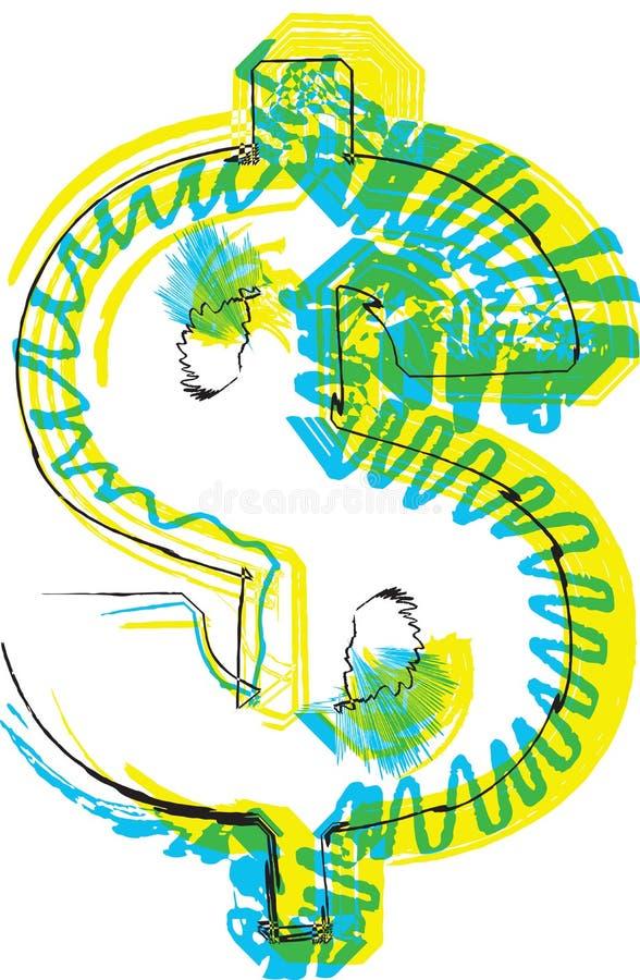 Hand dragit symbol royaltyfri illustrationer