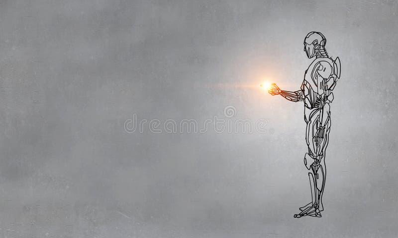 Hand dran robot stock illustratie