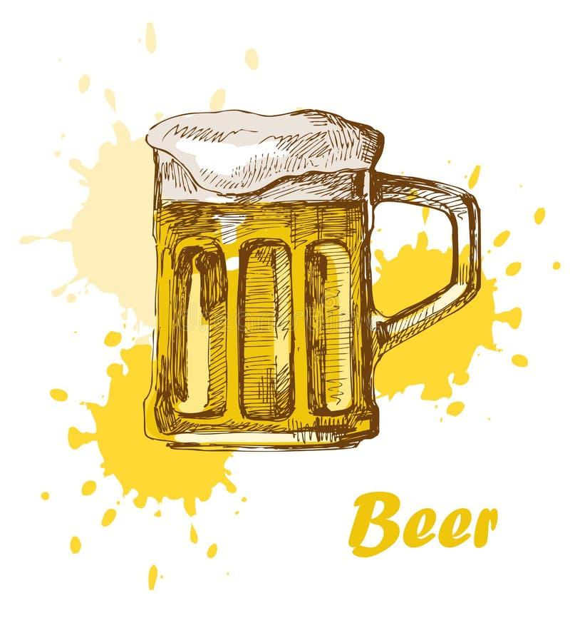 Download Hand draw beer stock vector. Image of light, drop, malt - 25142039
