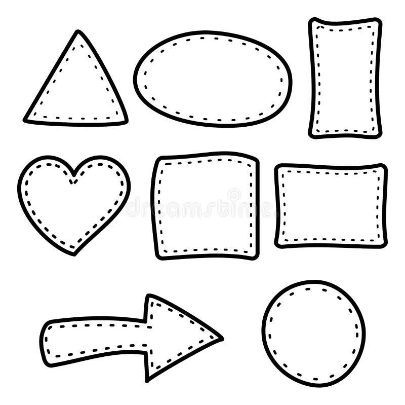 Hand draw border frame cute stock illustration