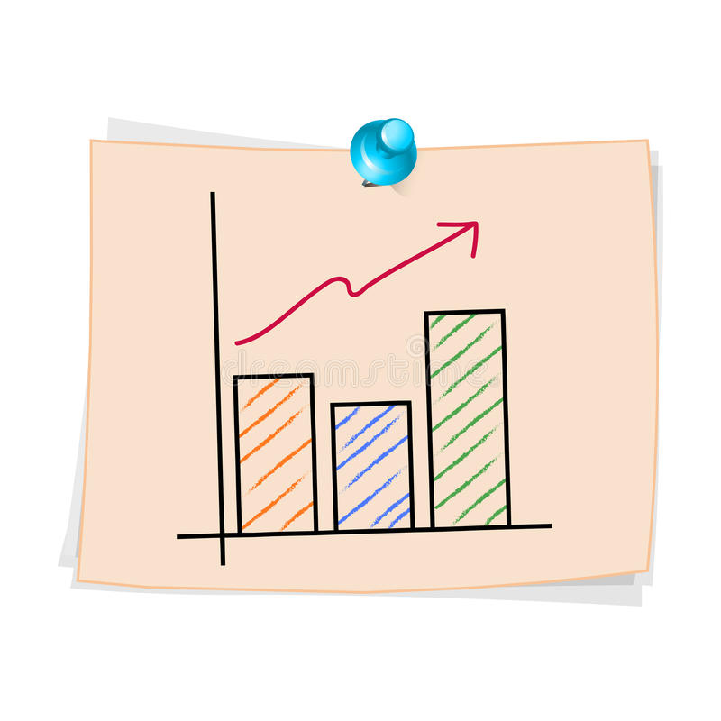 Drawing Line Graphs By Hand : Hand draw business graph cartoon stock vector