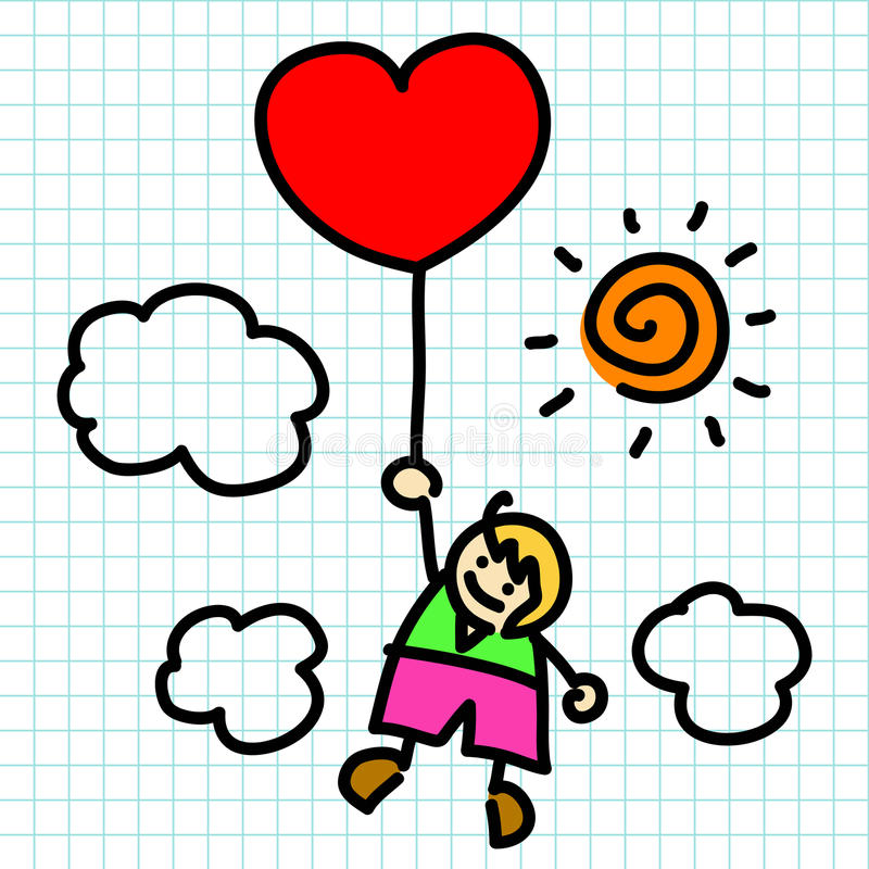 Hand draw charactor cartoon. Vector royalty free illustration