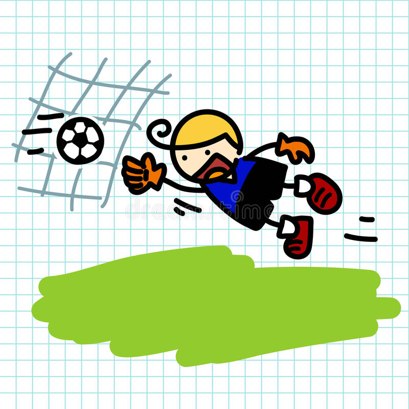 Hand draw charactor cartoon. Vector stock illustration