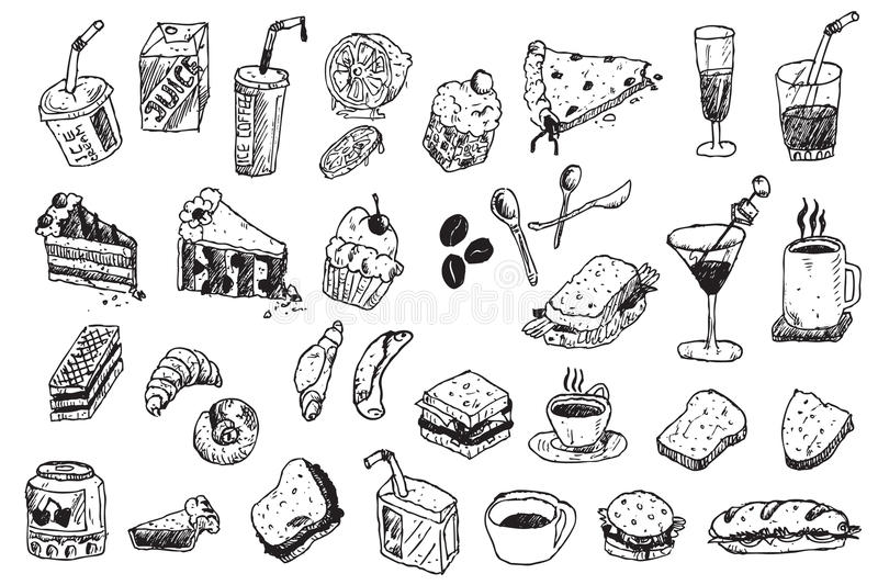 Hand draw doodle illustration royalty free stock photography