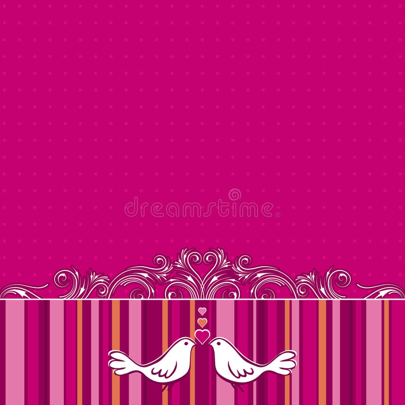 Download Hand Draw  Doves On Pink Background Stock Vector - Image: 17772743