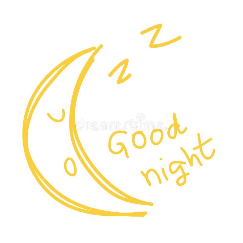 Free Hand Draw Goodnight Stock Photos - 142115133
