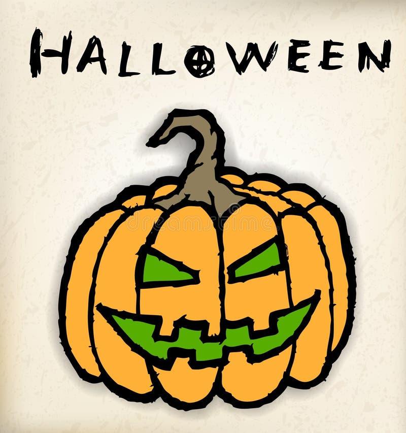 download hand draw halloween pumpkin stock vector image 39919811 - Draw Halloween Pumpkin