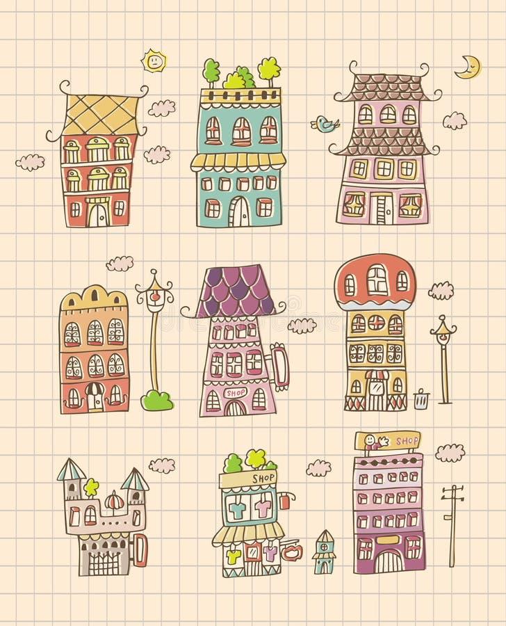 Hand draw house vector illustration