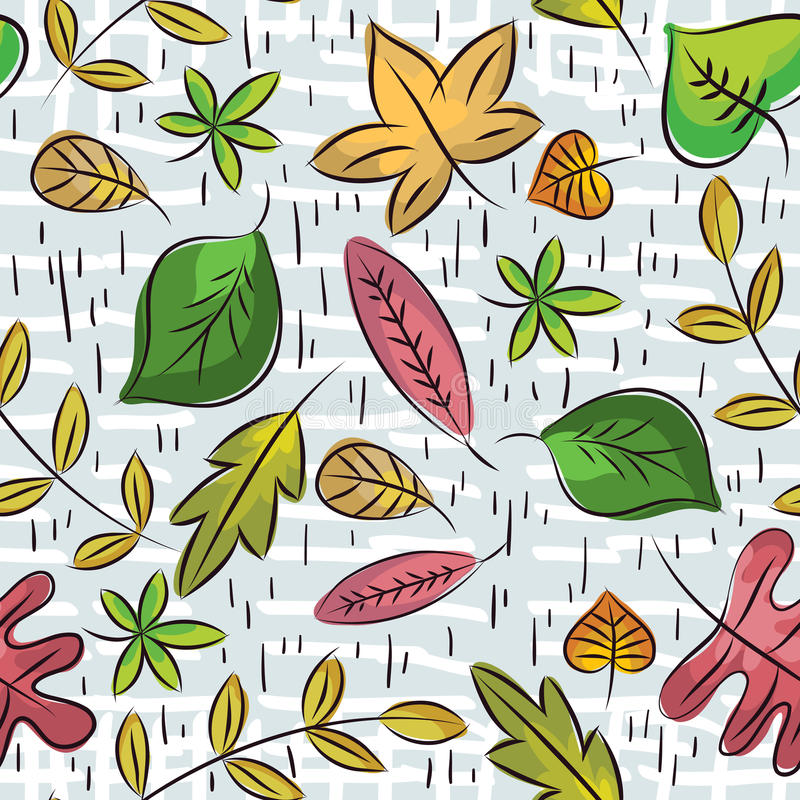 Download Hand Draw  Leafs Suitable Wrapping Paper Stock Vector - Image: 26494660