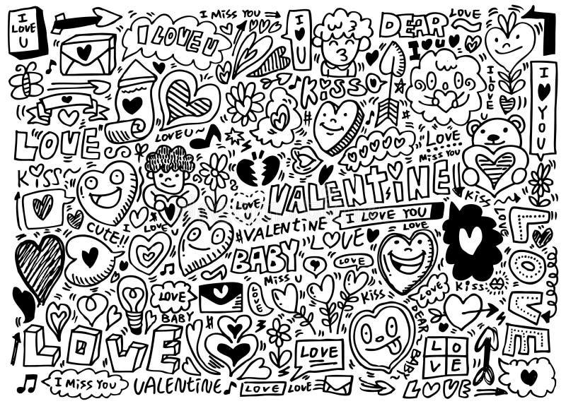 Hand Draw Love Element Stock Photo