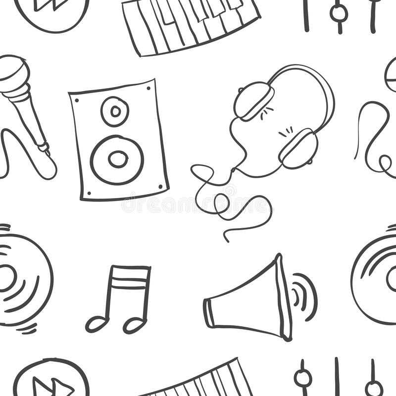 Hand draw of music doodles. Vector illustration