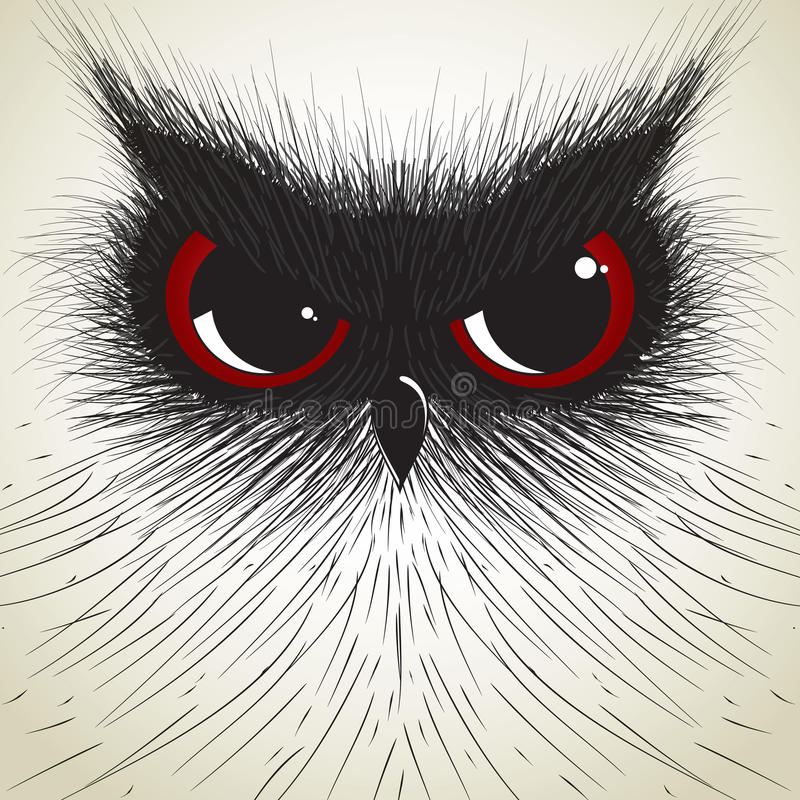 Hand Draw Owl Royalty Free Stock Images