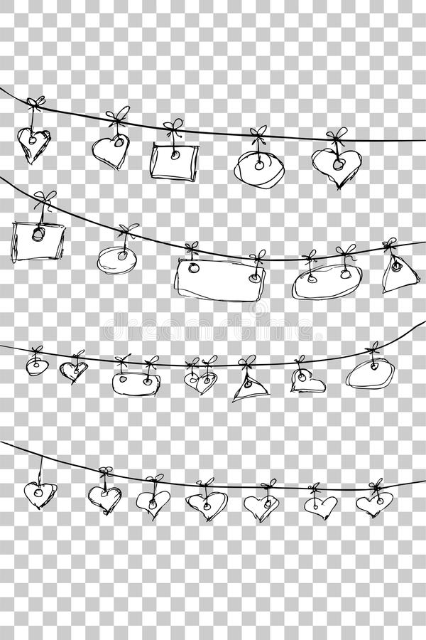 Free Hand Draw Sketch, Hanging Tag - Love, At Transparent Effect Background Stock Photo - 74483150