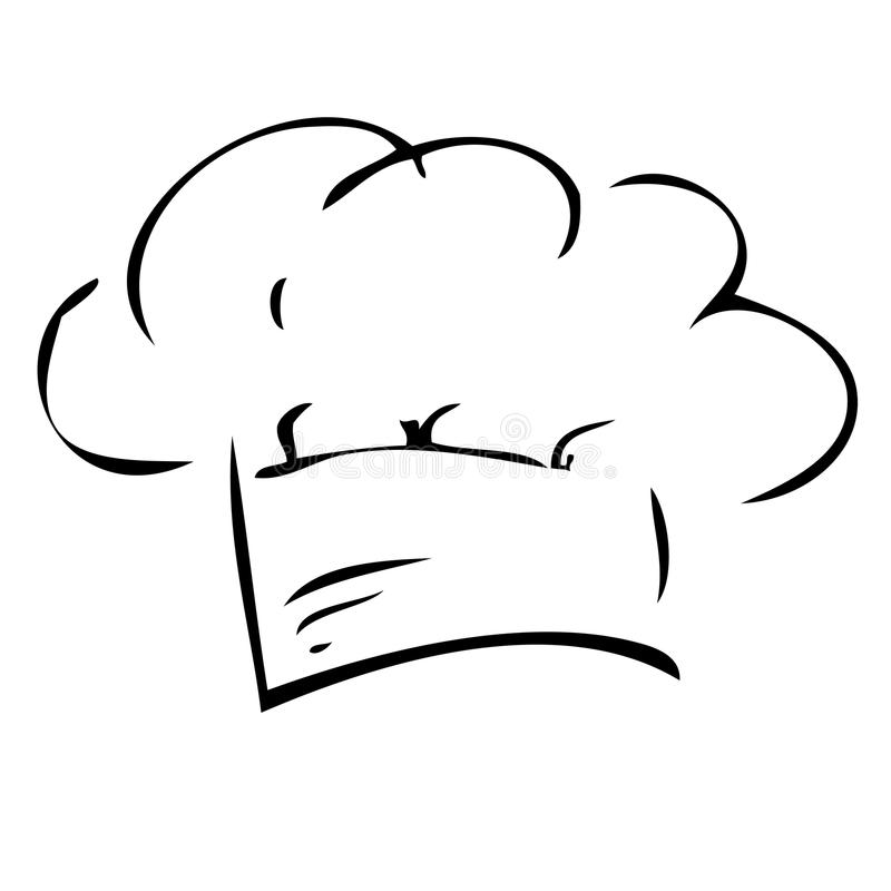 Free Hand Draw Sketch Of Chef Hat, Isolated On White Royalty Free Stock Image - 100260446