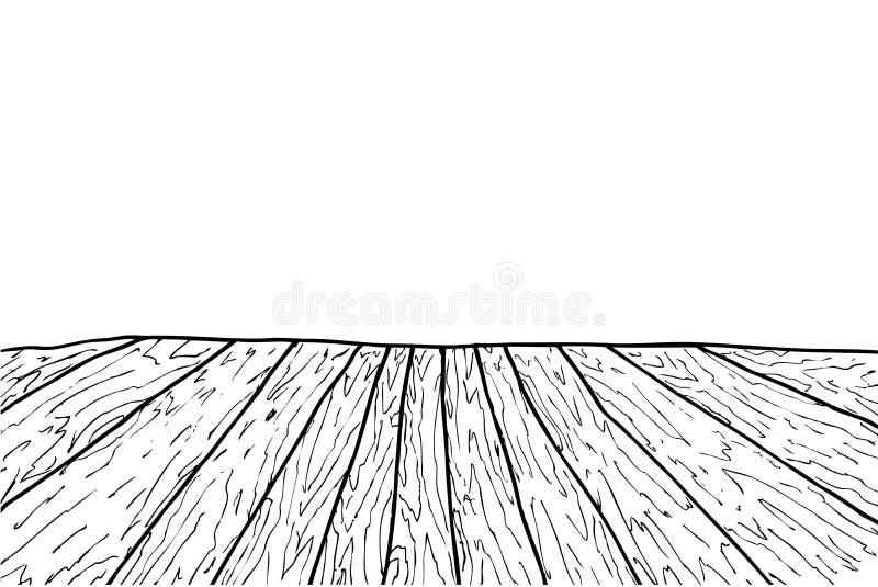 Hand draw sketch of Wooden Floor vector illustration
