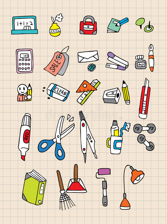 Free Hand Draw Stationery Stock Photo - 16804580
